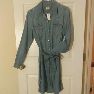 Gap Denim Shirt Dress Size L